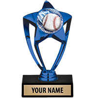Blue Star Insert Trophy