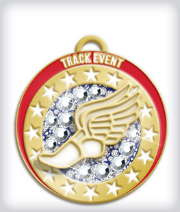 Rhinestone Custom Track Medals