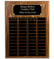 Larger Walnut Perpetual Plaques With  Metal Plates