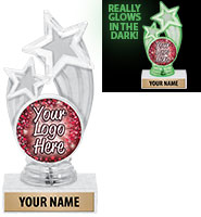 "6 1/4"" Glory Glow In The Dark Insert Trophy"