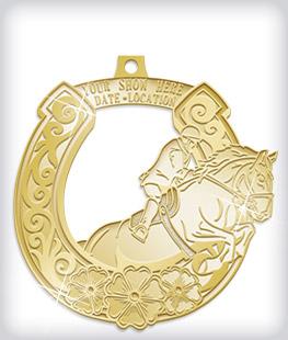 Shiny Gold Custom Equestrian Medals