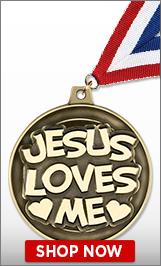 Jesus Loves Me Medal
