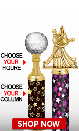 Ballroom Dance Column Trophies