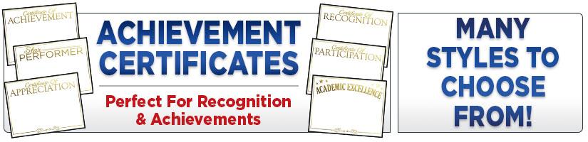 Gold foil achievement certificates yadclub Image collections
