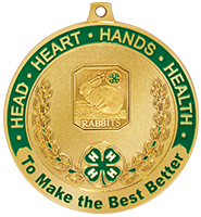 "2 1/2"" 4-H Rabbits Medal"