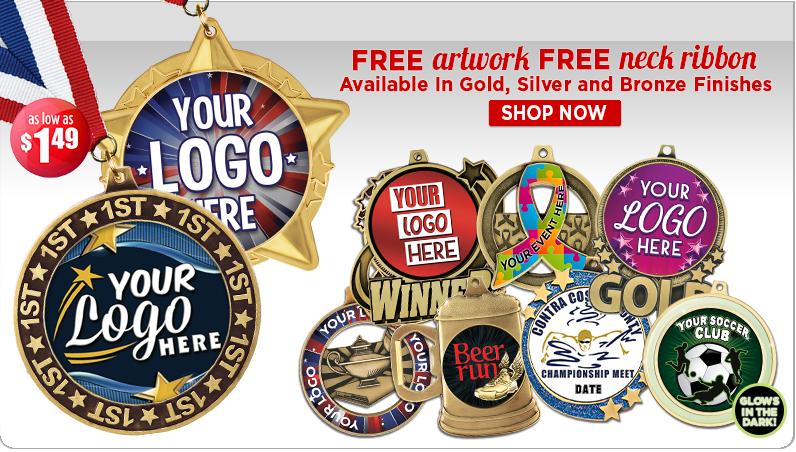 Crown Custom Logo Insert Medals