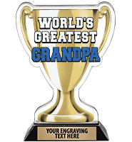 Spectrum Acrylic World's Greatest Grandpa Trophy