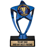 Blue Star Insert Trophy