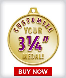 """Custom 3 ¼"""" Medal"""