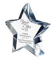 Stellar Crystal Paperweight