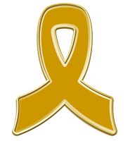 Gold Awareness Insert Ribbon Pin