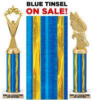 Blue Tinsel Column Trophies