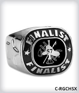 Custom Metal Inlay Finalist Ring