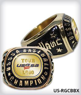 Custom USSSA Champion Ring With Logo Side