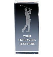Golf Swing Crystal Trophy