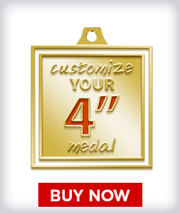 """Custom 4"""" Medal"""