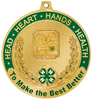 "2 1/2"" 4-H Goats Medal"