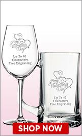 Valentine's Day Glassware