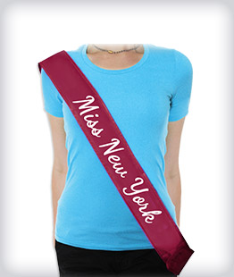 Custom Pageant Sashes