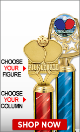 Pickleball Column Trophies