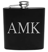 Black Stainless Steel Flask