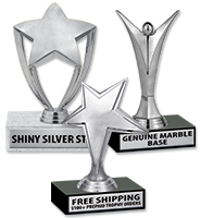 "6"" Participation Trophy With Silver Figures"
