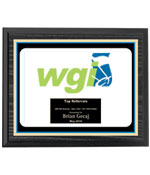 WGI Black Ash Horizontal Plaque