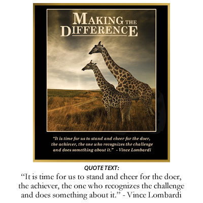 Making The Difference Inspiration Plaque