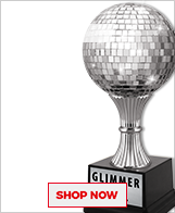 Tap Dance Glimmer Ball Trophies