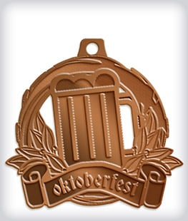 Antique Bronze Custom Oktoberfest Medals