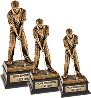 Topflight Male Golfer Sculpture