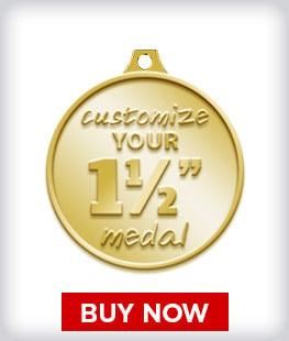 """Custom 1 ½"""" Medal"""