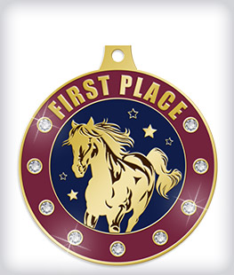 Rhinestone Custom Equestrian Medals