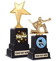 """10 1/4"""" & 11 1/2"""" Vintage Black Base Insert Trophy"""