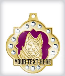 Rhinestone Custom Dog Medals