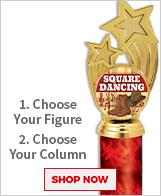Square Dancing Column Trophies
