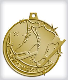 Antique Gold Custom Skating Medals