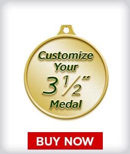 """Custom 3 ½"""" Medal"""