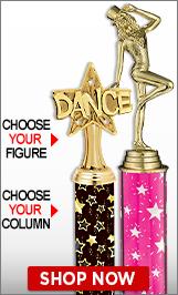 Tap Dance Column Trophies