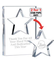 Star Paperweight Pop Out