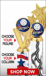 Netball Column Trophies