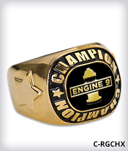 Custom Metal Inlay Champion Ring