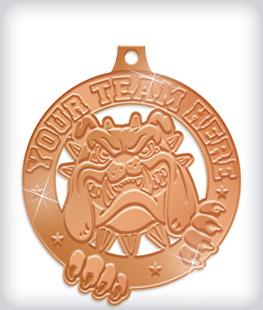 Shiny Bronze Custom Mascot Medals