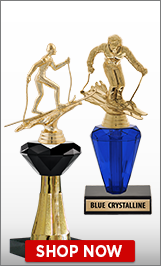 Skiing Crystalline Trophies