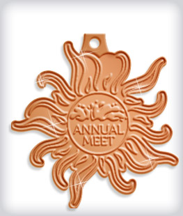 Shiny Bronze Custom Swim Medals