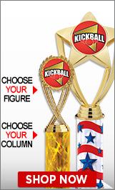 Kickball Column Trophies