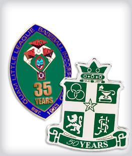 Custom Years of Service Semi Cloisonne Pins