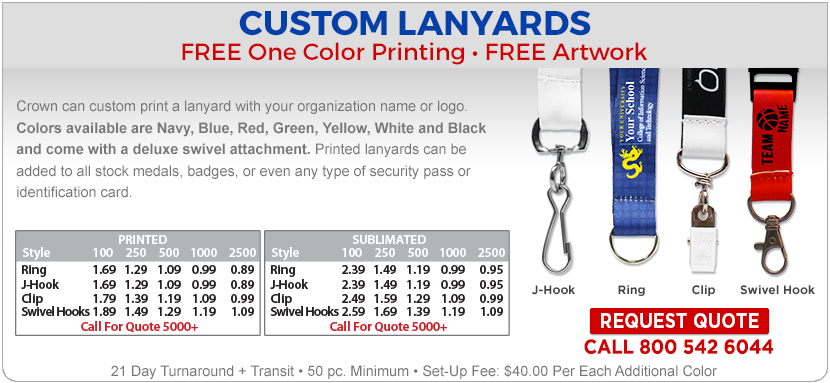 Crown Awards Custom Lanyards