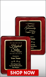 Sales Awards Plaque