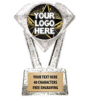 "5 3/4"" Glitter Diamond Icicle Custom Insert Trophy"